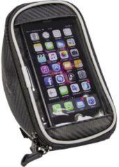 Fischer - Fiets Stuurtas met Smartphonevak - Zwart