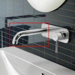 Wastafelmengkraan Hotbath Chap Inbouw 2-kruisgreep Gebogen 14.5 cm Geborsteld Nikkel