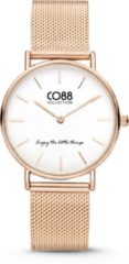 CO88 Collection Watches 8CW 10078 Horloge - Mesh Band - Ø 32 mm - Rosékleurig