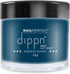 Blauwe Dip poeder voor nagels - Dippn Nailperfect - 035 Late Night - 25gr