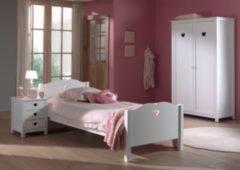 Vipack Furniture Vipack Set Amori bestehend aus: Einzelbett, Nachtkonsole und Kleiderschrank 2-trg.