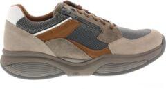 Taupe Xsensible Stretchwalker Mannen Leren Sneakers - 30088.1 - 43