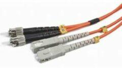 Oranje Gembird ST/SC OM2 5m Glasvezel kabel Orange,Black,Grey