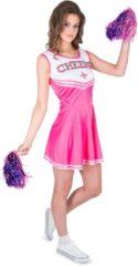 Beige Karnival Costumes Cheerleader Kostuum | Roze Cheerleader High School Amerika | Vrouw | Large | Carnaval kostuum | Verkleedkleding