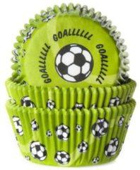 Groene House of Marie Cupcake vormpjes Voetbal Groen - pk/50