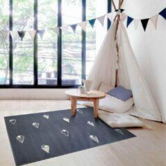 Blauwe Sens Kids Rugs Ijsjes kindervloerkleed - kindertapijt - 100 x 140 cm - wasbaar - zacht - duurzame kwaliteit - speelgoed