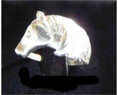 Zilveren Hetty'S Prachtige ring met paardenhoofd