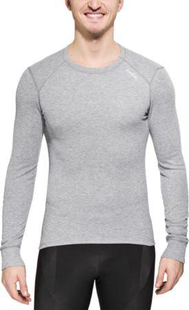 Afbeelding van Licht-grijze Odlo Shirt L/S Crew Neck Active Originals Warm Sportshirt Heren - Grey Melange - M
