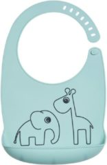 Done by Deer Baby Accessoires Silicone Bib Deer Friends Blauw