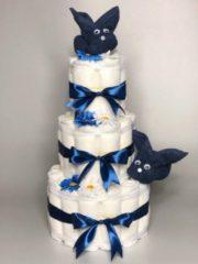 Marineblauwe Chouette-Chouette Luiertaart Konijnen Navy donker Blauw
