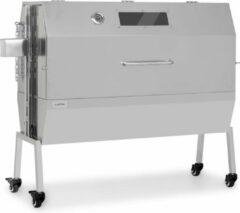 Zilveren Klarstein Sauenland Pro XL speenvarkengrill draaispit 15W 4 rollen rvs