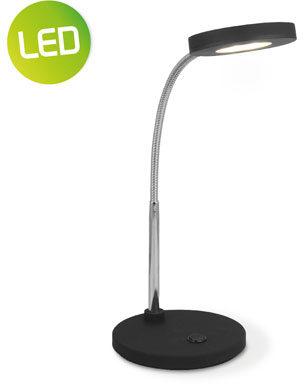 Afbeelding van Light depot Home sweet home LED bureaulamp Polly ↕ 28 cm - zwart