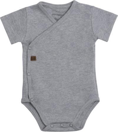 Afbeelding van Baby's Only Rompertje Melange - Grijs - 50 - 100% ecologisch katoen - GOTS