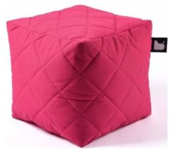 B-bag extreme lounging Extreme lounging B-Box Quilted Poef - Roze