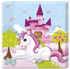 Eenhoorn, Uitgeverij de Tweelaags Papier servetten 33x33 cm, 20 stuk - Believe in Unicorns