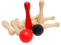 Outdoor Play houten bowlingset 11 delig