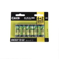 Calex 8-Pack AA batterijen - Penlite Alkaline Longlife