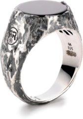 Rebel & Rose Rebel and Rose RR-RG008-S Ring Round Vintage Onyx zilver-zwart Maat 63