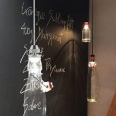 S.LUCE Flagon LED-Hängeleuchte für Flaschen / Silberfarben