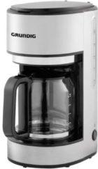 Witte Grundig KM 5620 Koffiezetapparaat RVS, Zwart Capaciteit koppen: 10 Glazen kan, Warmhoudfunctie