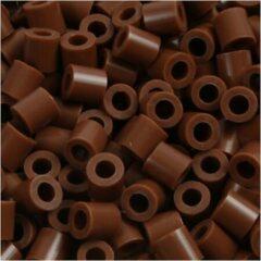 Bruine Nabbi Strijkkralen afm 5x5 mm gatgrootte 2 5 mm chocolate (32249) medium 1100stuks