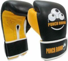 Punch Round™ ELITE PRO Bokshandschoenen Zwart Geel 16 oz