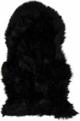 Hioshop Laila lamsvel imitatie 50x85 cm, zwart.