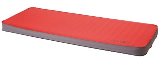 Afbeelding van Exped - MegaMat 10 - zelfopblazende isomat maat 197 x 77 cm - L/Extra-Wide rood/grijs
