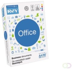 Rey Office Document printpapier met 4 perforaties ft A4, 80 g, pak van 500 vel