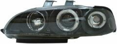Set Koplampen Honda Civic 2/3-deurs 1992-1995 - Zwart - incl. Angel-Eyes & Knipperlichten