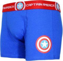 Marvel Comics Captain America Logo Boxershort Onderbroek Blauw/Rood/Wit, Maat: XL