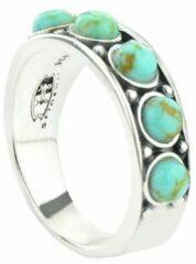 Symbols 9SY 0055 50 Zilveren Ring - Maat 50 - Turkoois - Turquoise - Geoxideerd