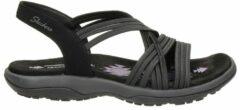 Skechers reggae slim outdoor sandalen zwart
