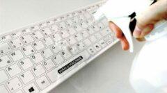 Man & Machine Medisch Draadloos toetsenbord - Reinigbare en desinfecterend toestenbord - Wit - Voldoet aan de WIP-richtlijnen voor o.a. tandartspraktijken