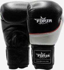 Forza Fighting Gear FORZA LEREN BOKSHANDSCHOENEN – WRECKS – ZILVER / ZWART