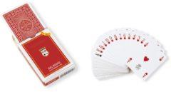 Dal Negro speelkaarten st. Moritz Extra 88 mm karton rood 55-delig