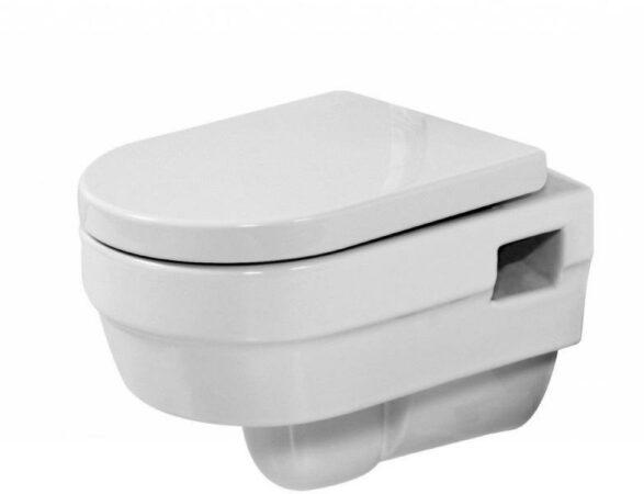 Afbeelding van Badstuber Jade hangend toilet met softclose zitting