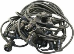 Tronix Prikkabel met 20x E27 fitting 20meter zwart IP44 585-038