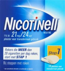 Nicotinell Pleisters TTS 30 21mg / 24uur (Voordeelverpakking)
