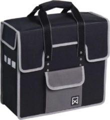 Willex Shopper Enkele Fietstas - 18 liter - Zwart / Grijs