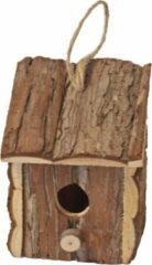 Bruine Gebr. De Boon Broedhuis natural vierkant met schuindak ophangbaar 16 cm