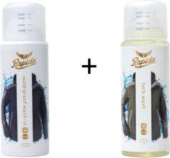 Transparante Rapide sinds 1897 Duopack Tech Wash + Tech Waterproof 2 x 300 ml, Wassen en Impregneren van Outdoorkleding