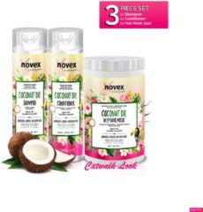 Novex Coconut Oil Bundle (Shampoo, Conditioner, Mask) 55oz