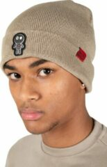 Wrong Friends Voodoo beanie muts - taupe