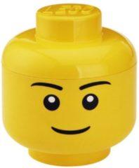 LEGO Hoofd Boy Opbergbox - Groot - H 27 x B 24 cm - Geel