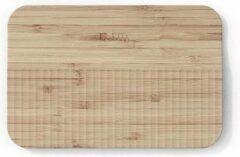 Naturelkleurige Trebonn Wave Chop & Slide Small snijplank van bamboe 30 cm