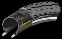 Zwarte Continental Ride Tour Reflex - Buitenband - 32-630 / 27 x 1 1/4 inch