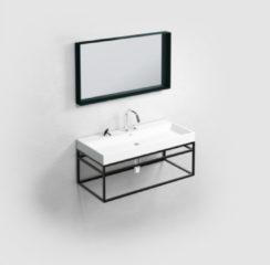 Clou (New) Wash Me Frame kokerprof. 90cm mat zwart poederlak CL/07.49.109.21