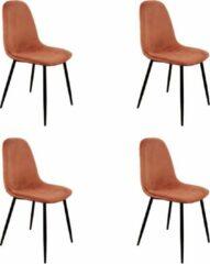 PoleWolf - Blossom chair - Velvet - Copper - Promotion - Set of 4