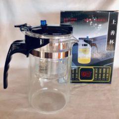 Zilveren Zhu Theepot-filter setsysteem 600 ml voor 1-2 glazen thee Uniek theefilter potje voor het zetten van losse thee